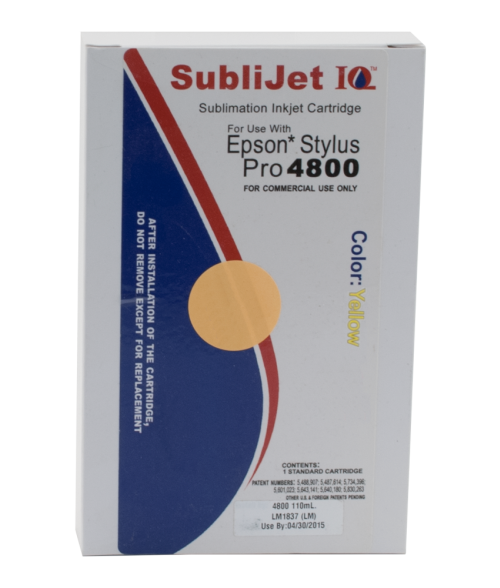 Sawgrass Sublijet-IQ Yellow 110ml Ink Cartridge (Epson 4800)