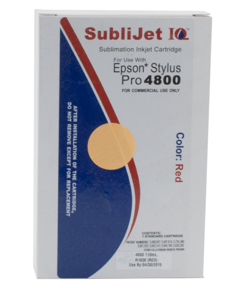 Sawgrass Sublijet-IQ Red 110ml Ink Cartridge (Epson 4800)