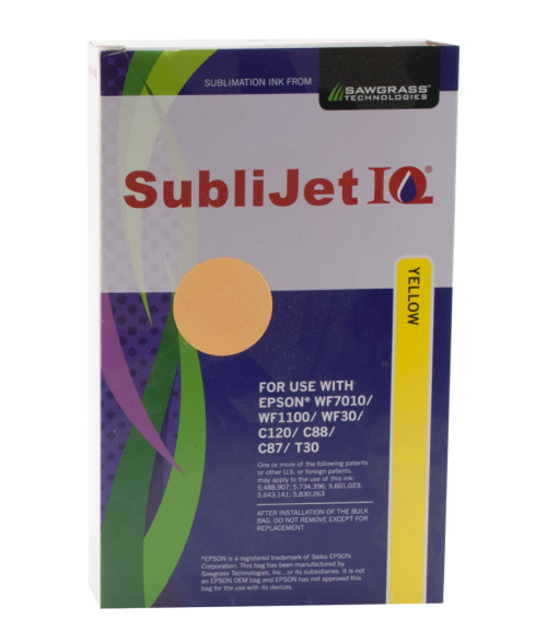 Sawgrass Sublijet-IQ Yellow 90ml Ink Bag (Epson WF7010|WF1100|WF30|C120|C88|C86|C84)