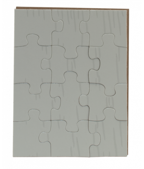 "5-1/4"" x 6-3/4"" Rectangle Cardboard Jigsaw Puzzle (12 Pieces)"