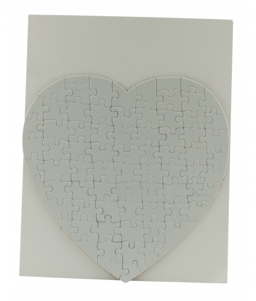 "7-1/2"" x 7-1/2"" Heart Cardboard Jigsaw Puzzle (75 Pieces)"