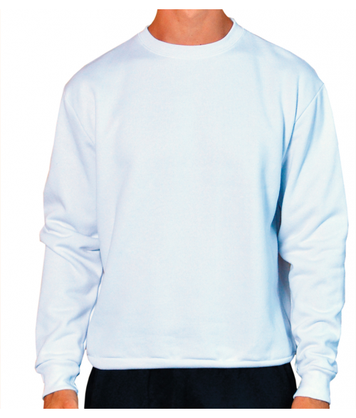 Vapor Adult White Crew Sweatshirt (3X)