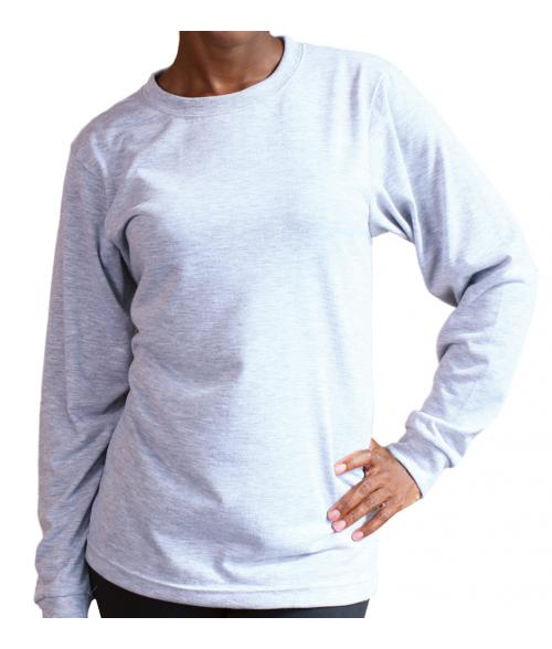 Vapor Adult Ash Heather Crew Sweatshirt (L)