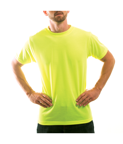 Vapor Adult Safety Yellow Basic Tee (4X)