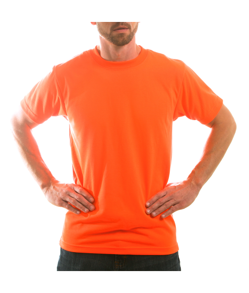 Vapor Adult Safety Orange Basic Tee (M)