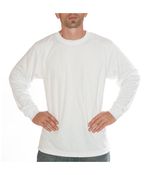 Vapor Adult White Basic Long Sleeve Tee (L)