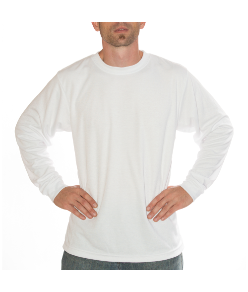 Vapor Adult White Basic Long Sleeve Tee (M)