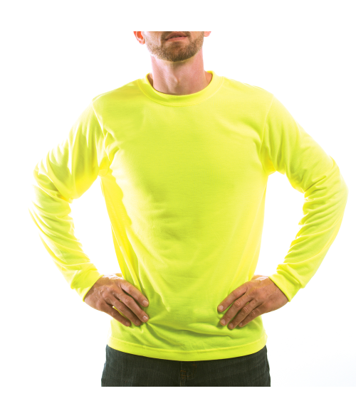 Vapor Adult Safety Yellow Basic Long Sleeve Tee (L)