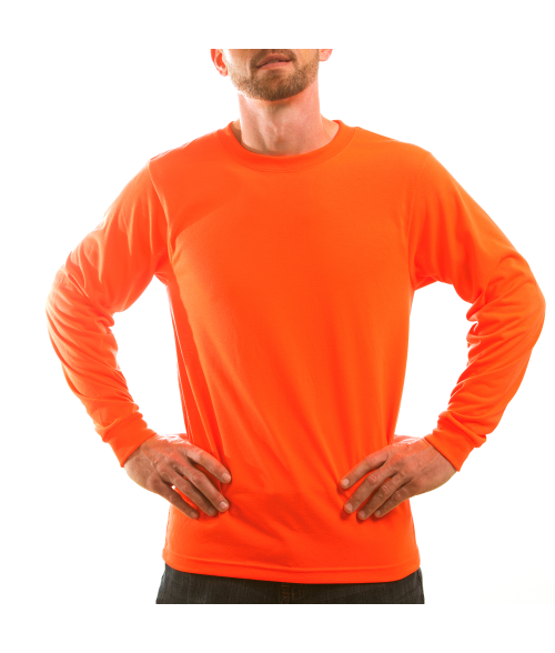 Vapor Adult Safety Orange Basic Long Sleeve Tee (L)