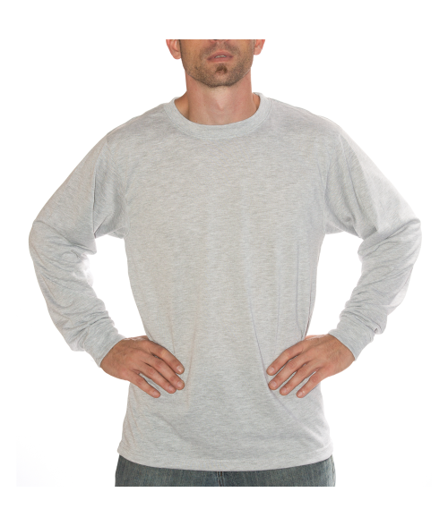 Vapor Youth Ash Heather Basic Long Sleeve Tee (M)