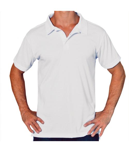 Vapor Adult White Basic Polo (L)