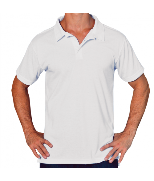 Vapor Adult White Basic Polo (S)