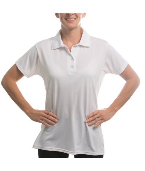 Vapor Ladies White Eco Polo (M)