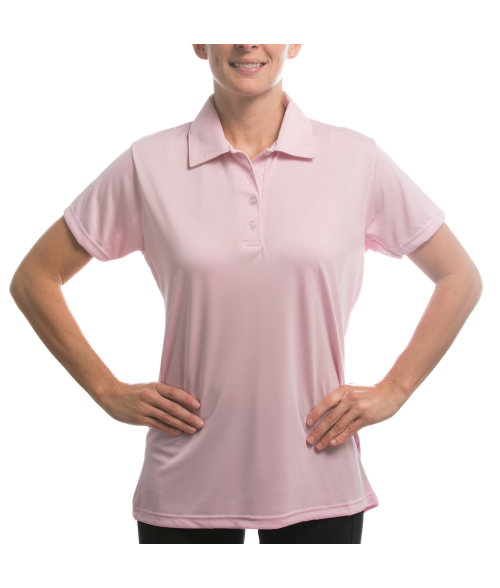 Vapor Ladies Pink Eco Polo (XS)