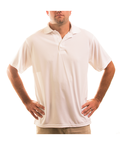 Vapor Adult White Eco Polo (S)