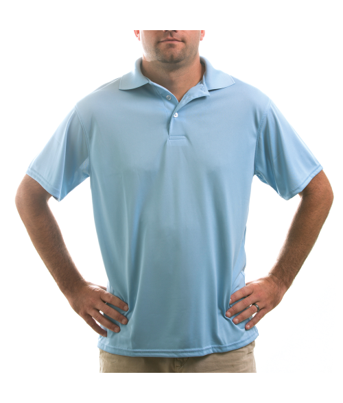Vapor Adult Blue Sky Eco Polo (2X)