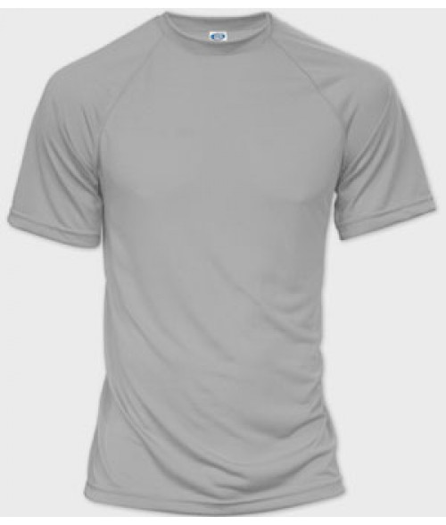 Vapor Adult Athletic Grey Eco Micro Raglan Tee (XS)