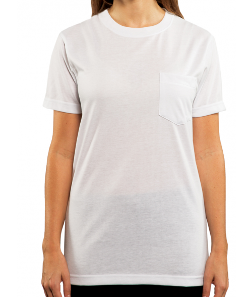 Vapor Adult White Pocket Tee (5X)