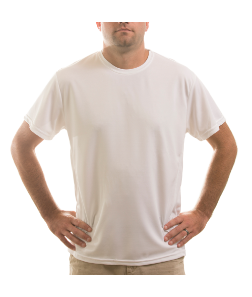 Vapor Adult White Fashion Fit Crew Neck Tee (2X)