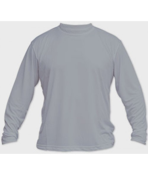 Vapor Youth Athletic Grey Solar Long Sleeve Tee (M)