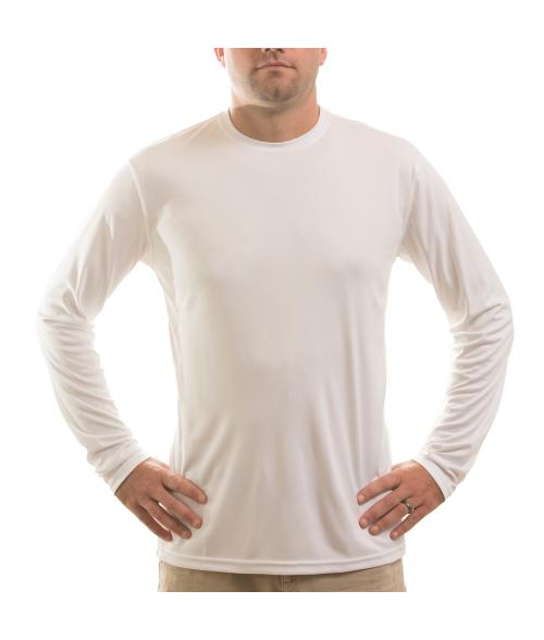 Vapor Adult White Solar Long Sleeve Tee (3X)