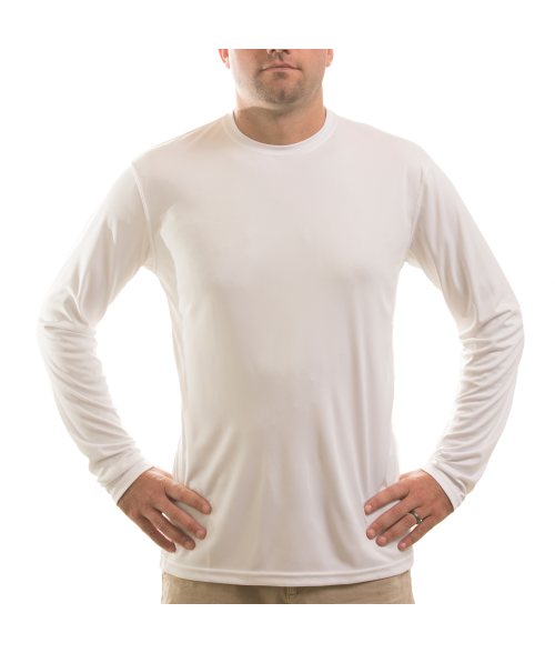 Vapor Adult White Solar Long Sleeve Tee (S)