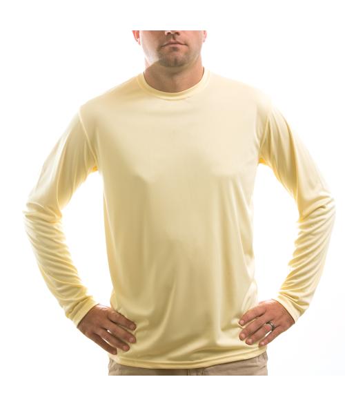 Vapor Adult Pale Yellow Solar Long Sleeve Tee (3X)