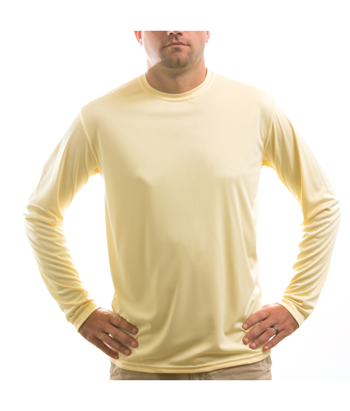 Vapor Adult Pale Yellow Solar Long Sleeve Tee (M)