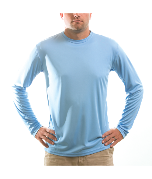 Vapor Adult Columbia Blue Solar Long Sleeve Tee (S)