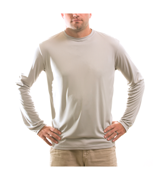 Vapor Adult Athletic Grey Solar Long Sleeve Tee (2X)
