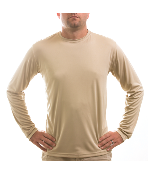 Vapor Adult Tan Solar Long Sleeve Tee (S)