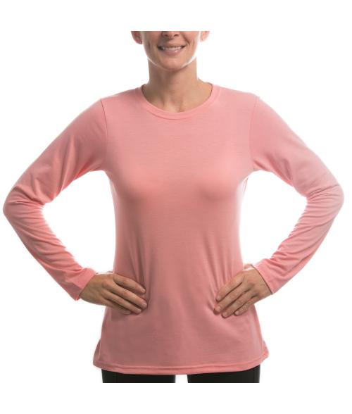 Vapor Ladies Pretty Pink Long Sleeve Slim Tee (L)