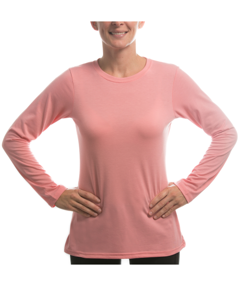 Vapor Ladies Pretty Pink Long Sleeve Slim Tee (XS)