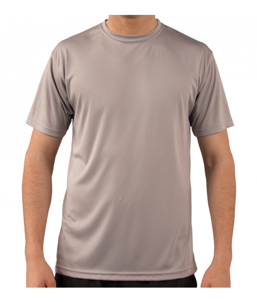 Vapor Adult Athletic Grey Solar Tee (S)