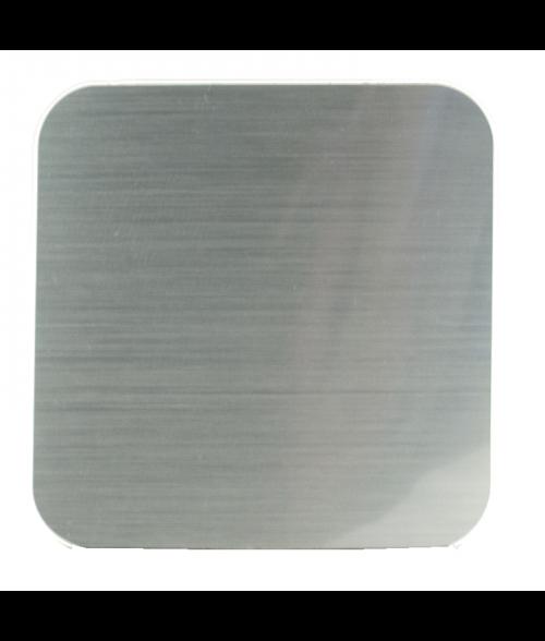 """Rowmark Mugmates Brushed Silver 3-3/4"""" x 3-3/4"""" Coaster"""