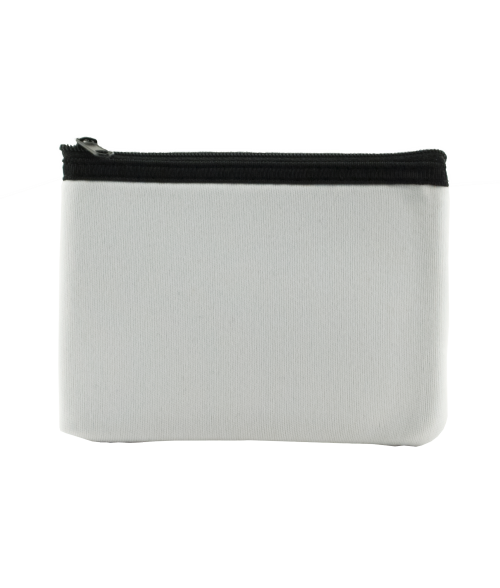 White Zippered Pouch