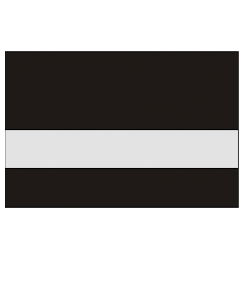 "Rowmark UltraGrave Matte Clear/Black .020"" Reverse Engraving Plastic"