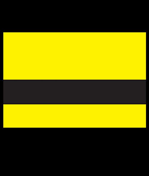 "Rowmark UltraGrave Matte Yellow/Black .010"" Engraving Plastic"