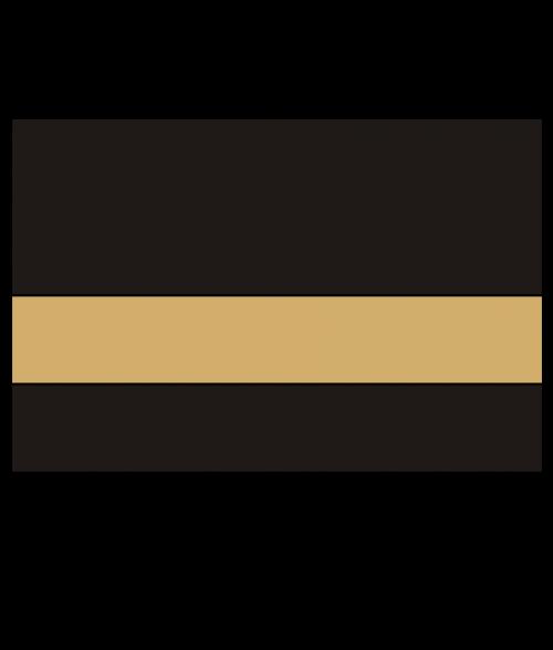 "Rowmark UltraGrave Matte Black/Gold 1/16"" Engraving Plastic"