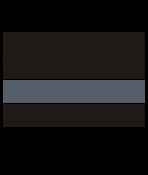 "Rowmark UltraGrave Matte Black/Silver Grey 1/16"" Engraving Plastic"