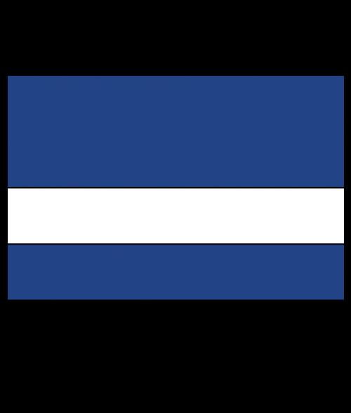 "Rowmark UltraGrave Matte Air Force Blue/White 1/16"" Engraving Plastic"