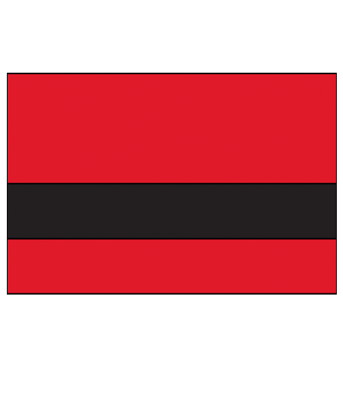 "Rowmark UltraGrave Matte Red/Black 1/16"" Engraving Plastic"