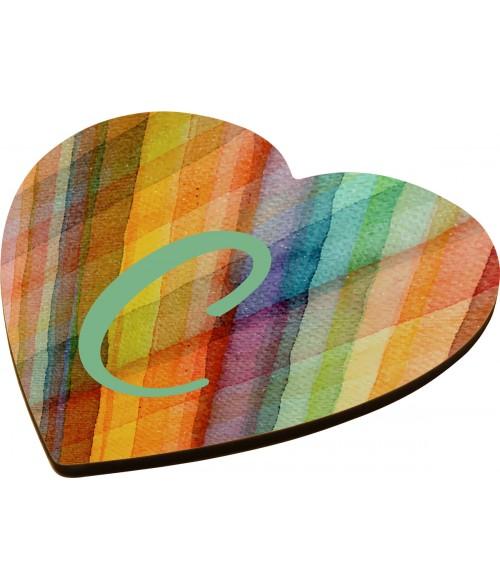 """Unisub 3-7/8"""" x 4"""" Heart Hardboard Coaster"""