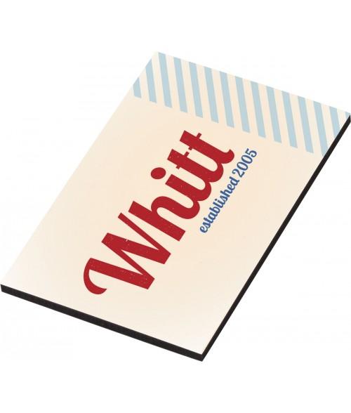 "Unisub White 2"" x 3"" Hardboard Magnet"