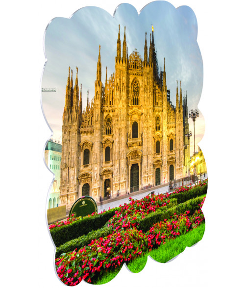 "Unisub ChromaLuxe Gloss White 8"" x 8"" Milan Aluminum Photo Panel"