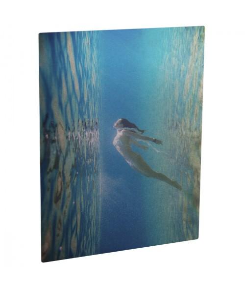 "Unisub ChromaLuxe Gloss Silver 8"" x 12"" Rectangle Aluminum Photo Panel"