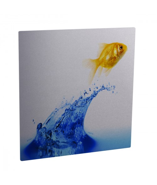 "Unisub ChromaLuxe Gloss Silver 6"" x 6"" Square Aluminum Photo Panel"