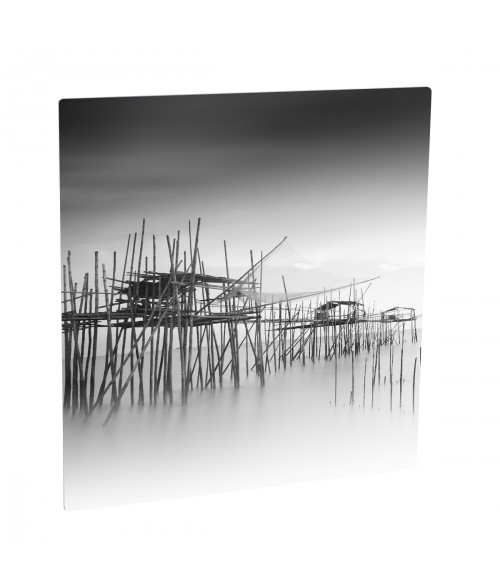 "Unisub ChromaLuxe Matte Silver 4"" x 4"" Square Aluminum Photo Panel"
