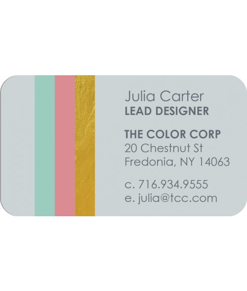 "Unisub Gloss White 2"" x 3-1/2"" 2-Sided Aluminum Business Card"