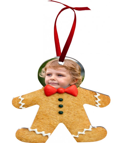 Unisub White Aluminum Gingerbread Man Ornament